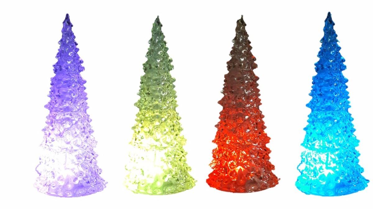 Arbol navidad luz led 22 cms ilumina 6 colores - Arbol navidad colores ...