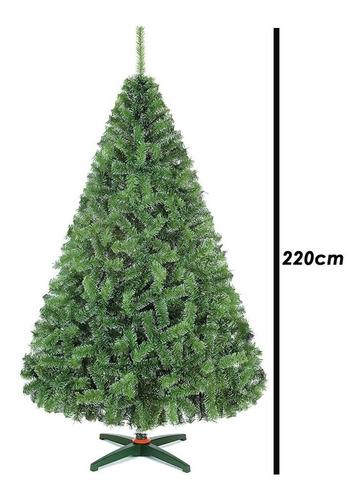arbol navidad monarca lujo verde nevado 220cm altura-32570