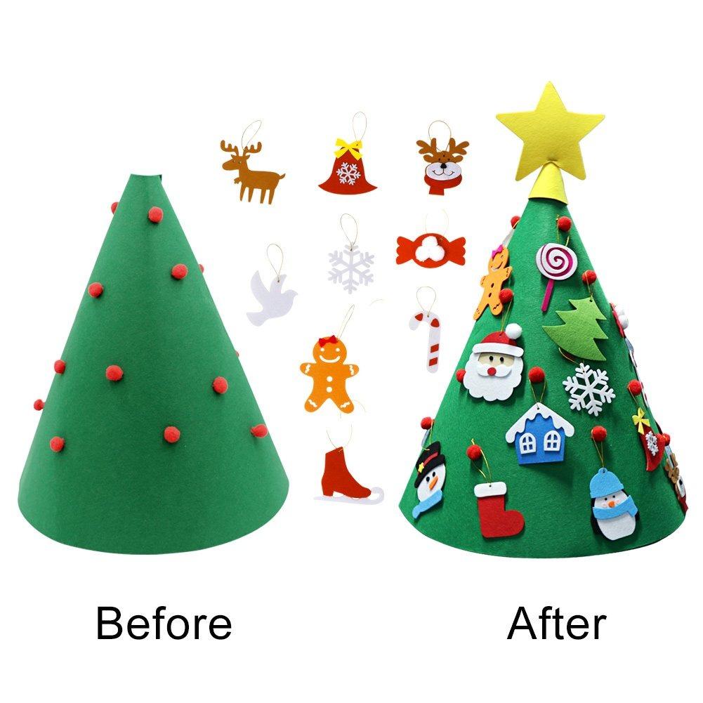 7fb87172743 Partytalk 3d Diy Fieltro Árbol De Navidad Adecuado Para Niñ ...