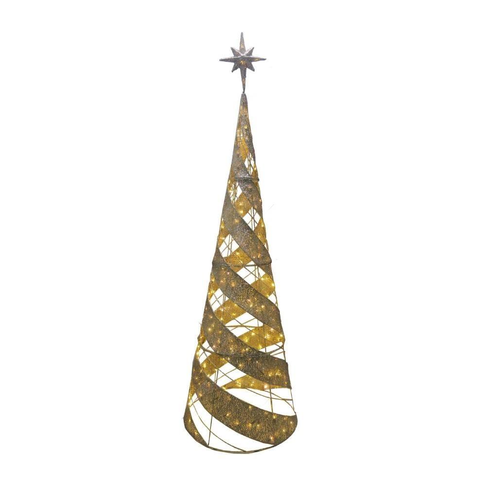 Arbol De Navidad De Mesh Con Luces Led Para Exterior - $ 3,499.00 en ...