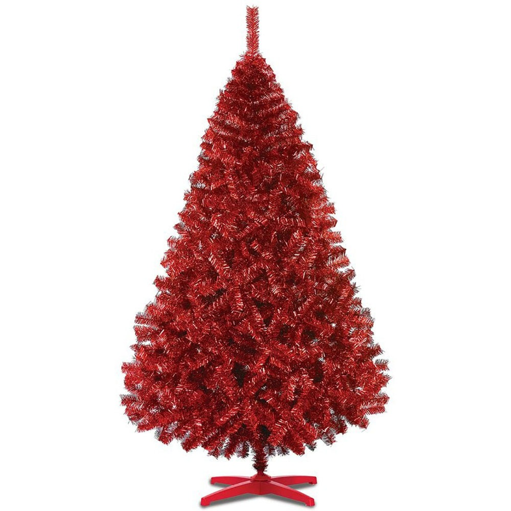 Arbol navidad rojo artificial pino monarca naviplastic - Arbol artificial de navidad ...