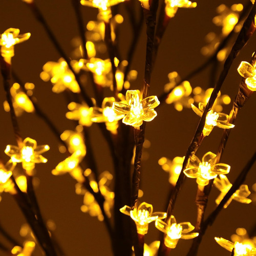 arbol navidad ucharge cherry blossom flores 600leds 1.8m 6ft