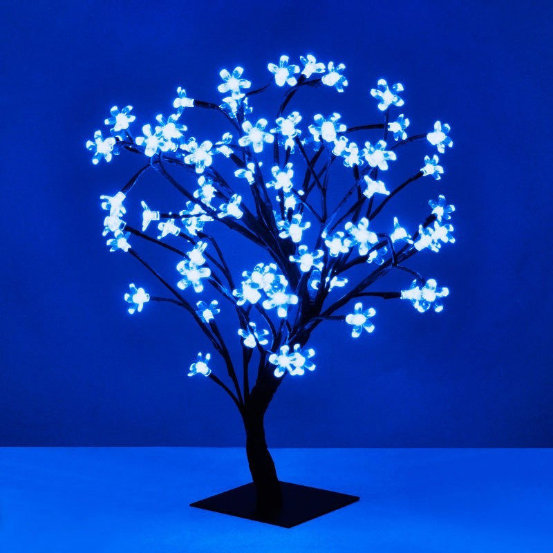 arbol navideo luces led azules bonsai cerezo casamientos with luces led casa