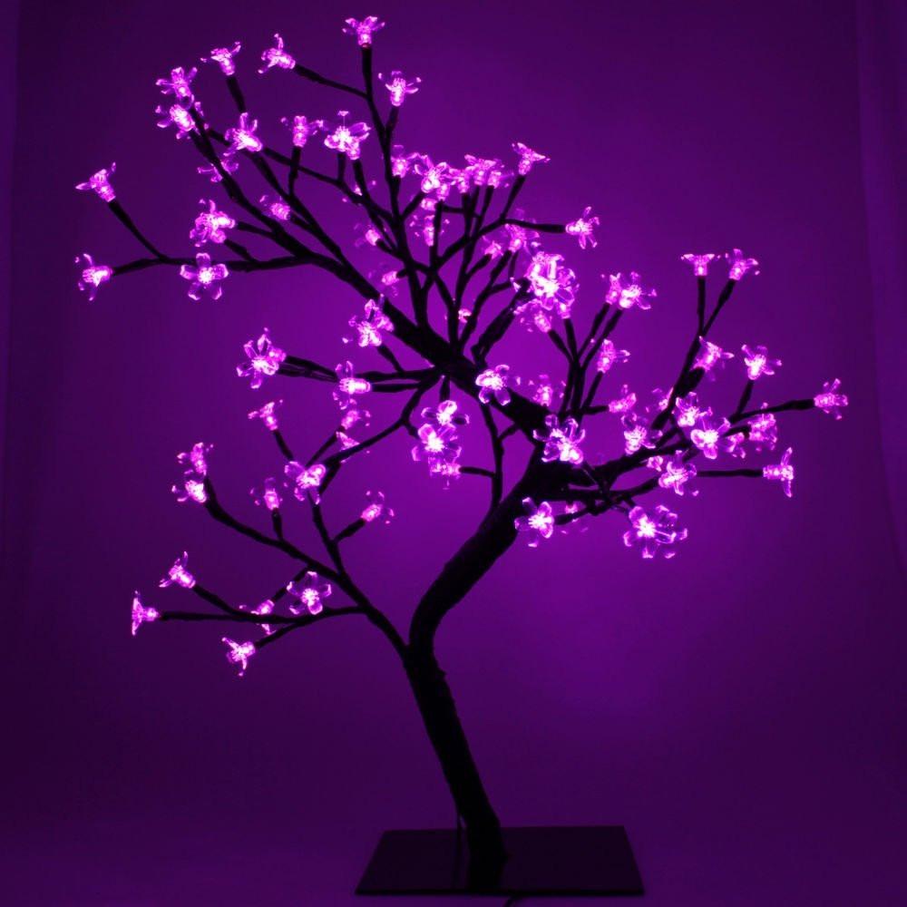 328136f8306 arbol navideño luces led violetas bonsai cerezo casamientos. Cargando zoom.
