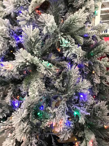 árbol navideño nevado led giratorio  2.28 envío  gratis