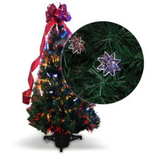 árbol navideño orquídea fibra óptica 240cm - verde