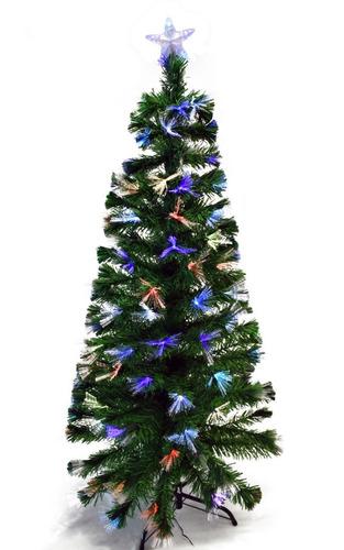 arbol navideño verde fibra optica luz led de 1.50 metros
