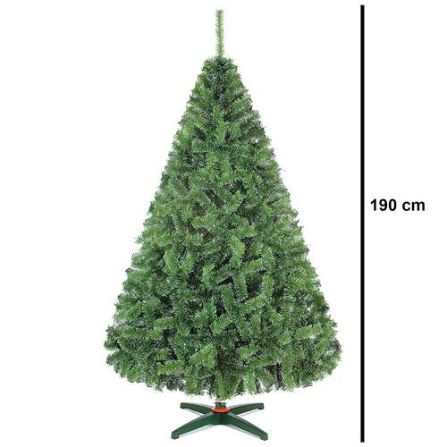 arbol nevado pino naviplastic 1.90m monarca verde artificial