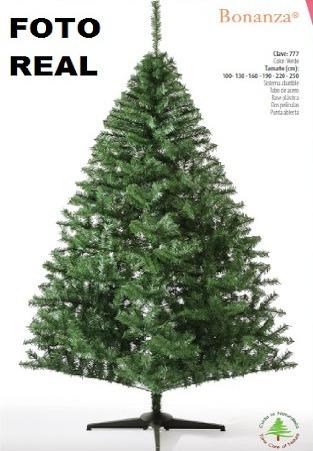 arbol o pino de navidad blanco 1.60 metros bonanza
