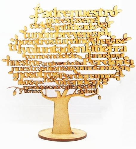 árbol padre nuestro mdf 30cm