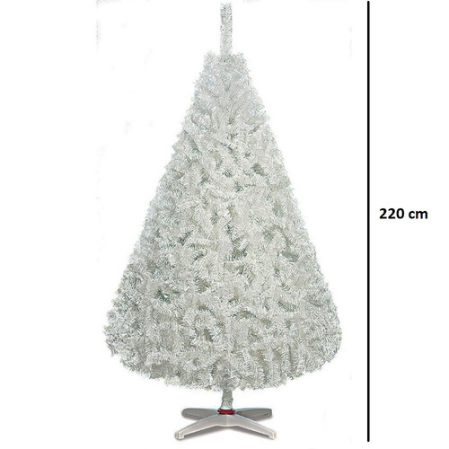 arbol pino blanco navidad artificial naviplastic 220cm