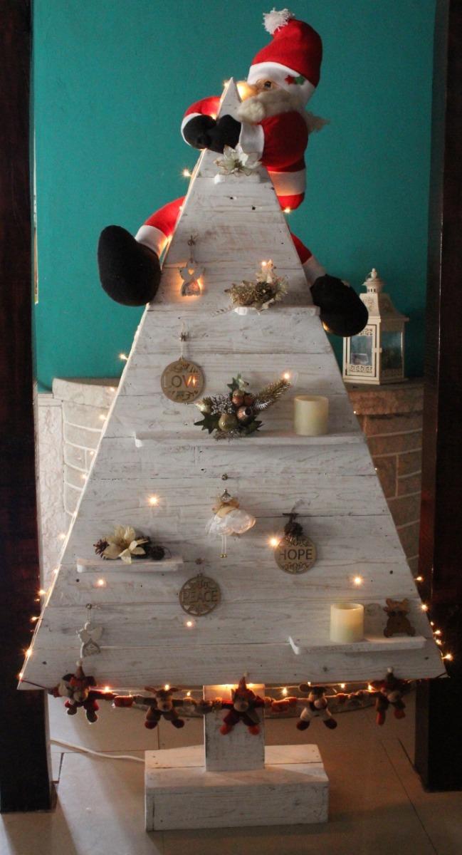 ac357669092 arbol pino de navidad de madera reciclada con luz. Cargando zoom.