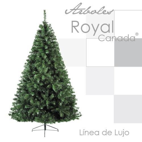 arbol pino navidad artificial royal canada 2.20 mt verde new