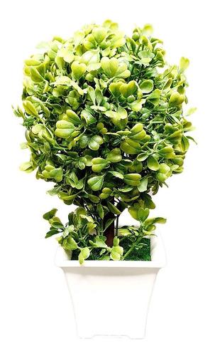 arbol planta con maceta de plastico flor artificial