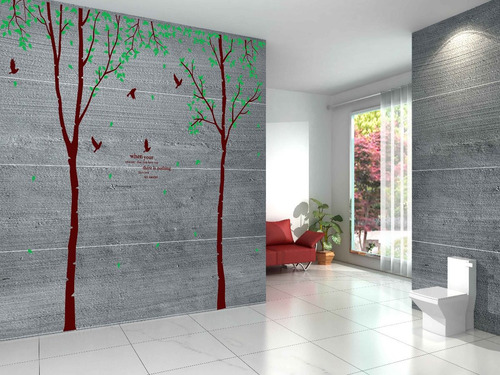 arbol realista gigante mural vinil decorativo sticker pared