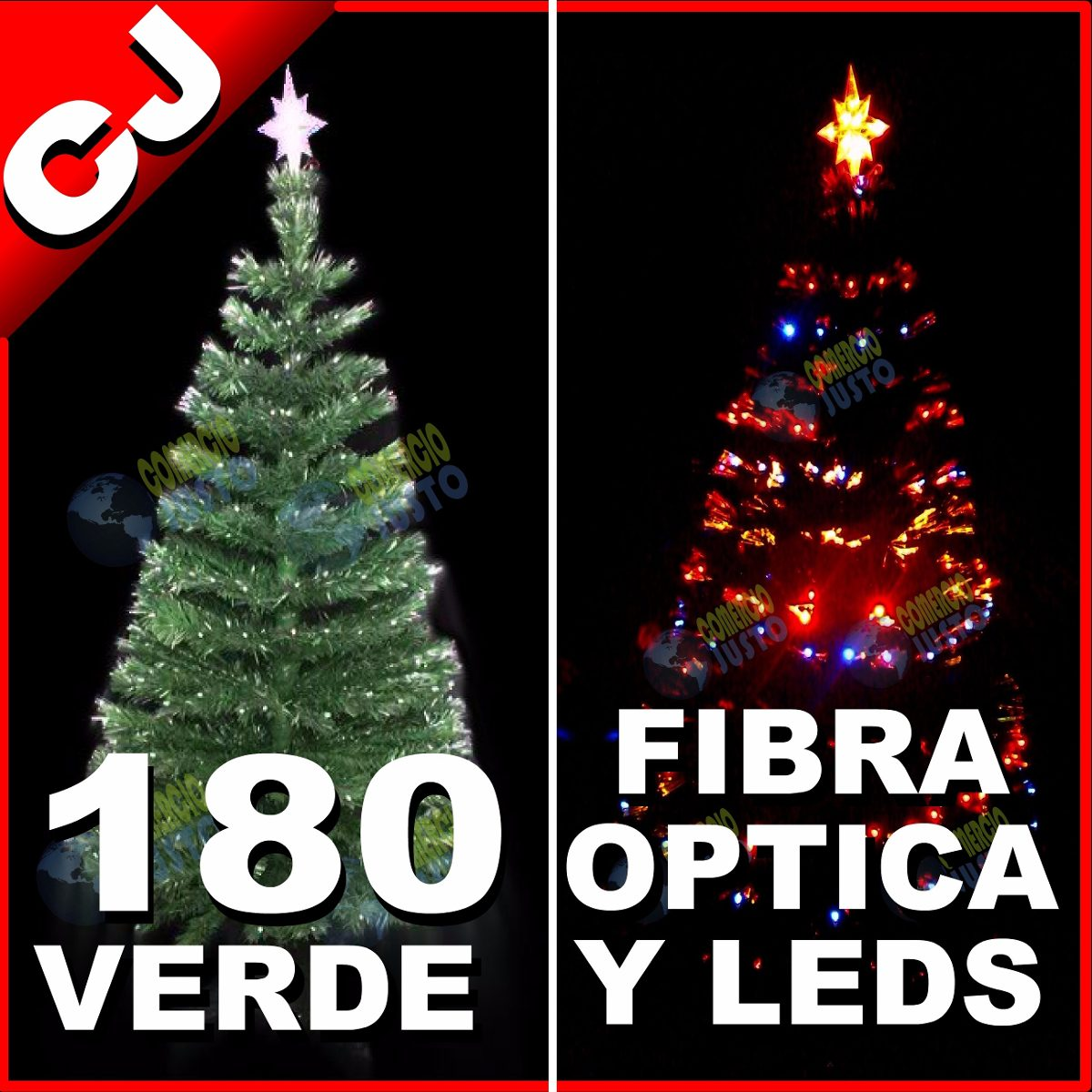 Arbol verde 180 fibra optica y luces led integradas navidad 1 en mercado libre - Luces led arbol navidad ...