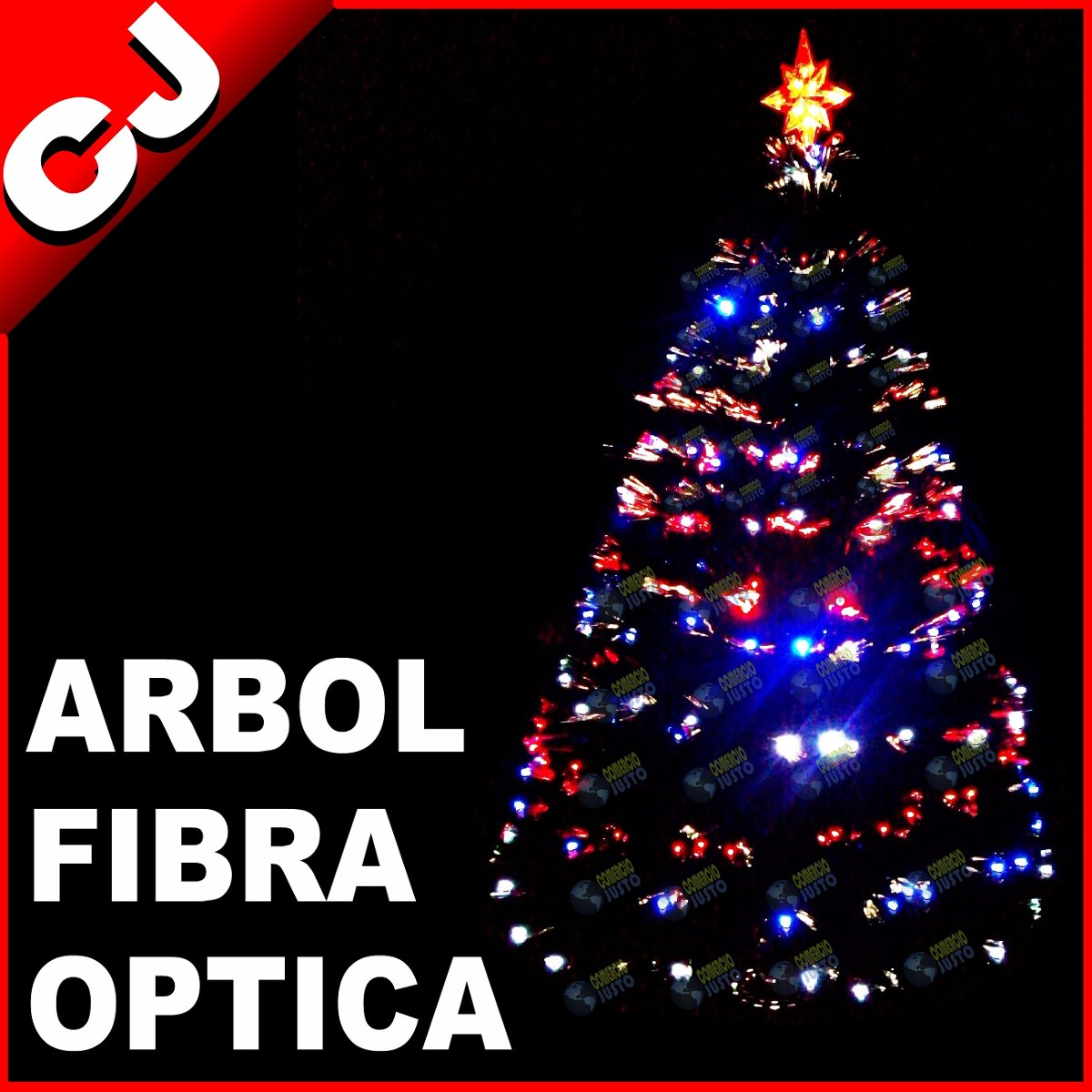 Arbol verde 210 fibra optica y luces led integradas - Luces para arboles ...