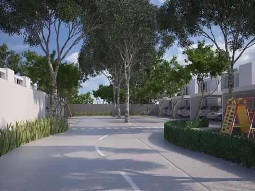 arbolada cholul. privada de 8 casas en preventa  en merida