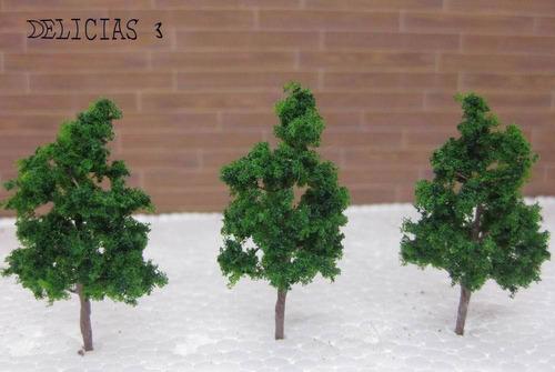 arboles de 35 mm de altura para maqueta esc 1:300 /1:500