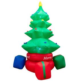 7e80b8dd9d2bf Arbol Navidad Inflable Navideño Giratorio Luz Pino 2 Metros