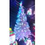 Árbol Navidad Blanco Fibra Óptica Y Led 2.10 Metros