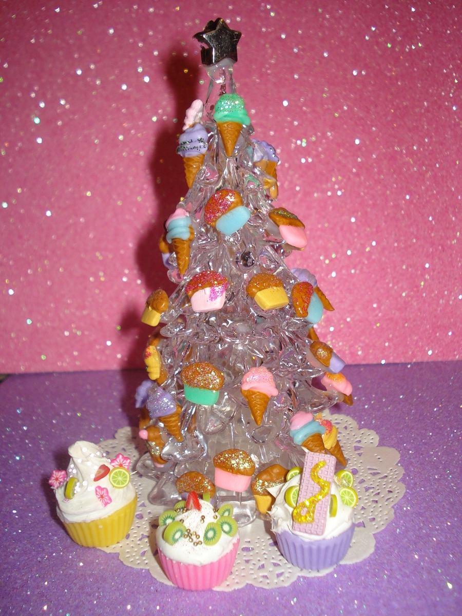 Arbolito d navidad acrilico decorado ideal escritori - Comprar arboles de navidad decorados ...
