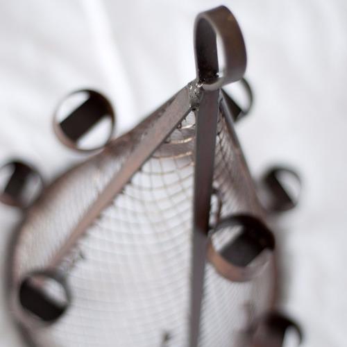 arbolito navidad portavelas vintage hierro estilo deco