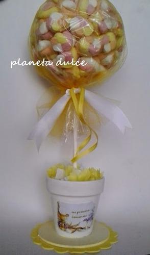 arbolito topiario de golosinas planeta dulce® centro de mesa