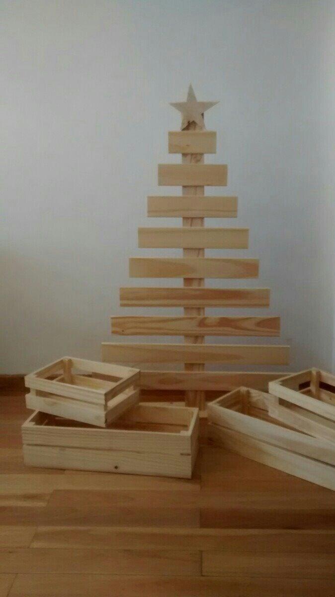 arbolitos de madera navidad arbol navideo tipo palllet - Arbol De Navidad De Madera