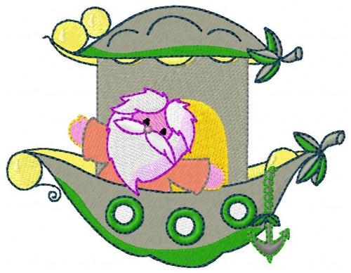 arca de noé folhas - coleção de matriz de bordado