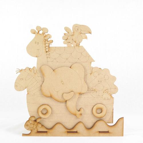 arca de noe hecha en mdf, centro de mesa, recuerdo, adorno