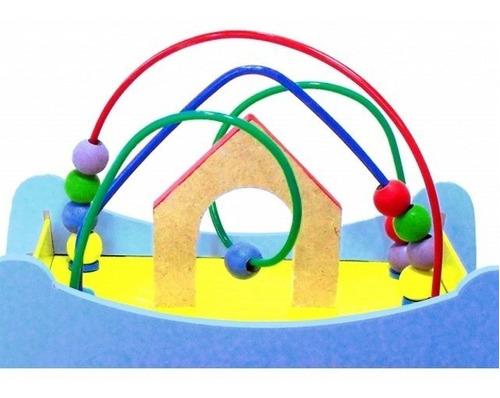 arca de noé pequena com animais - madeira multicolorido - be