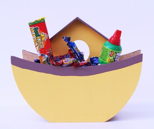 arca de noe recuerdo centro mesa dulcero bautizo evento