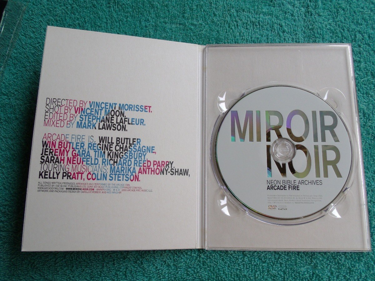 Arcade Fire / Miroir Noir - Neon Bible Archives - Dvd (novo)