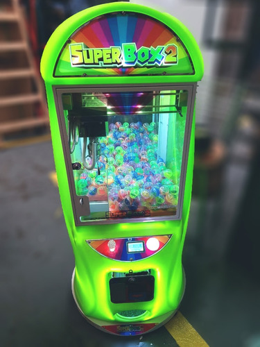 arcade grúa super box crane superbox billetero