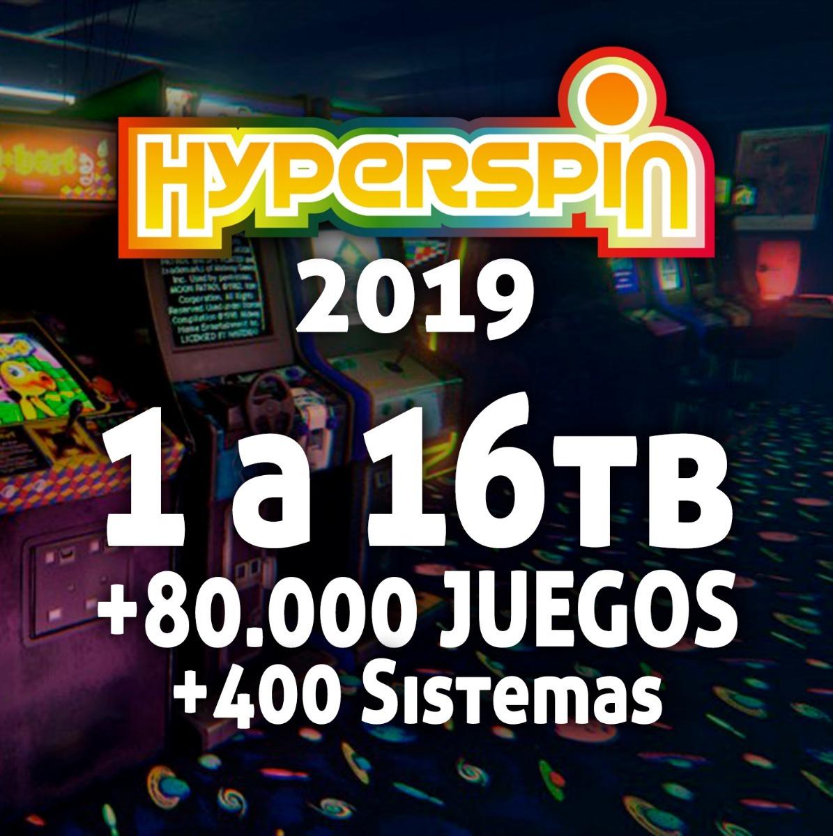 Arcade Hyperspin 2019 Pc 8tb +80 000 Juegos +388 Sistemas
