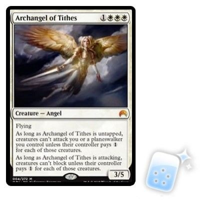 arcángel de diezmos orígenes mágicos ori mtg magic tarjeta d
