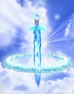 arcangel miguel espada fuego azul contra energia negativa