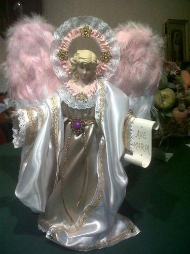 arcángeles y ángeles de cerámica y finas telas