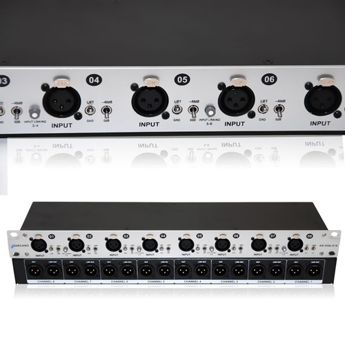 arcano splitter audio xlr 8 in 16 out (tipo direct box) ar-d
