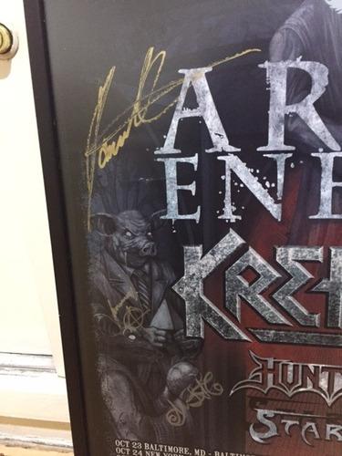 arch enemy, poster aurografiado por todos original