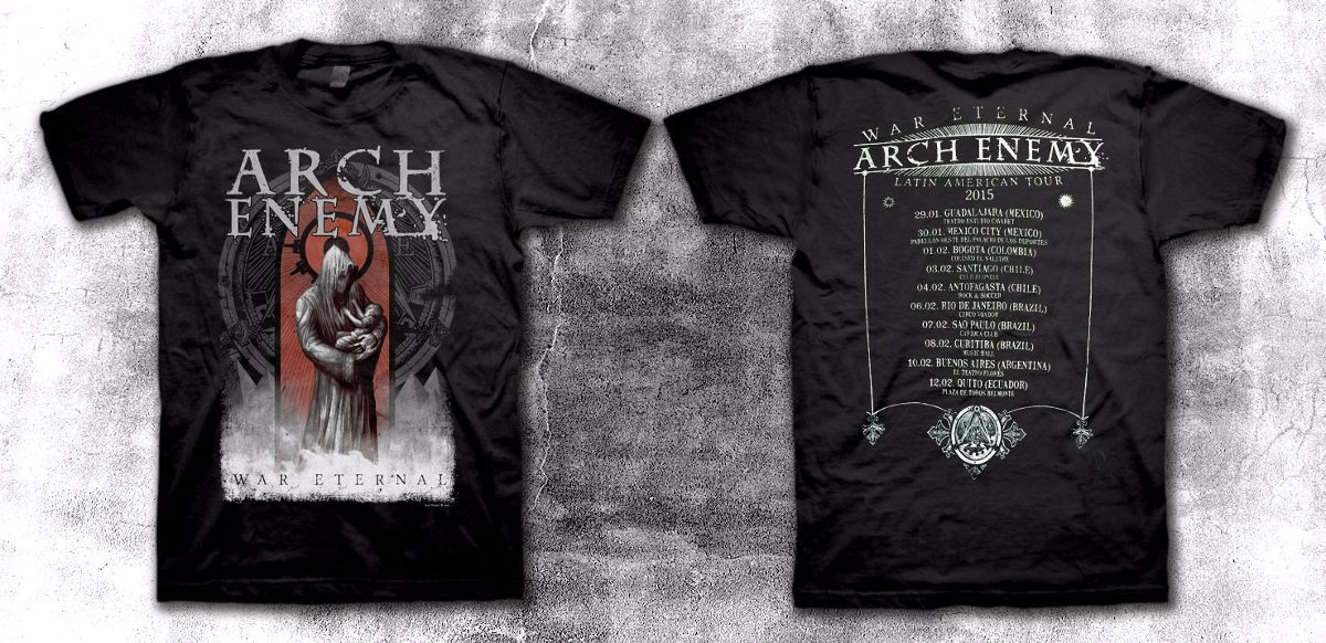 arch enemy - war eternal tour 2015 - remera. Cargando zoom. 8f08eed9f8d0d