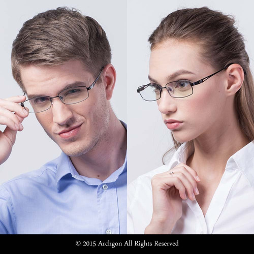 archgon fashion computadora anteojos anti luz azul titani