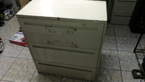 archivador archivo archivero metalico 3 gavetas usado asch