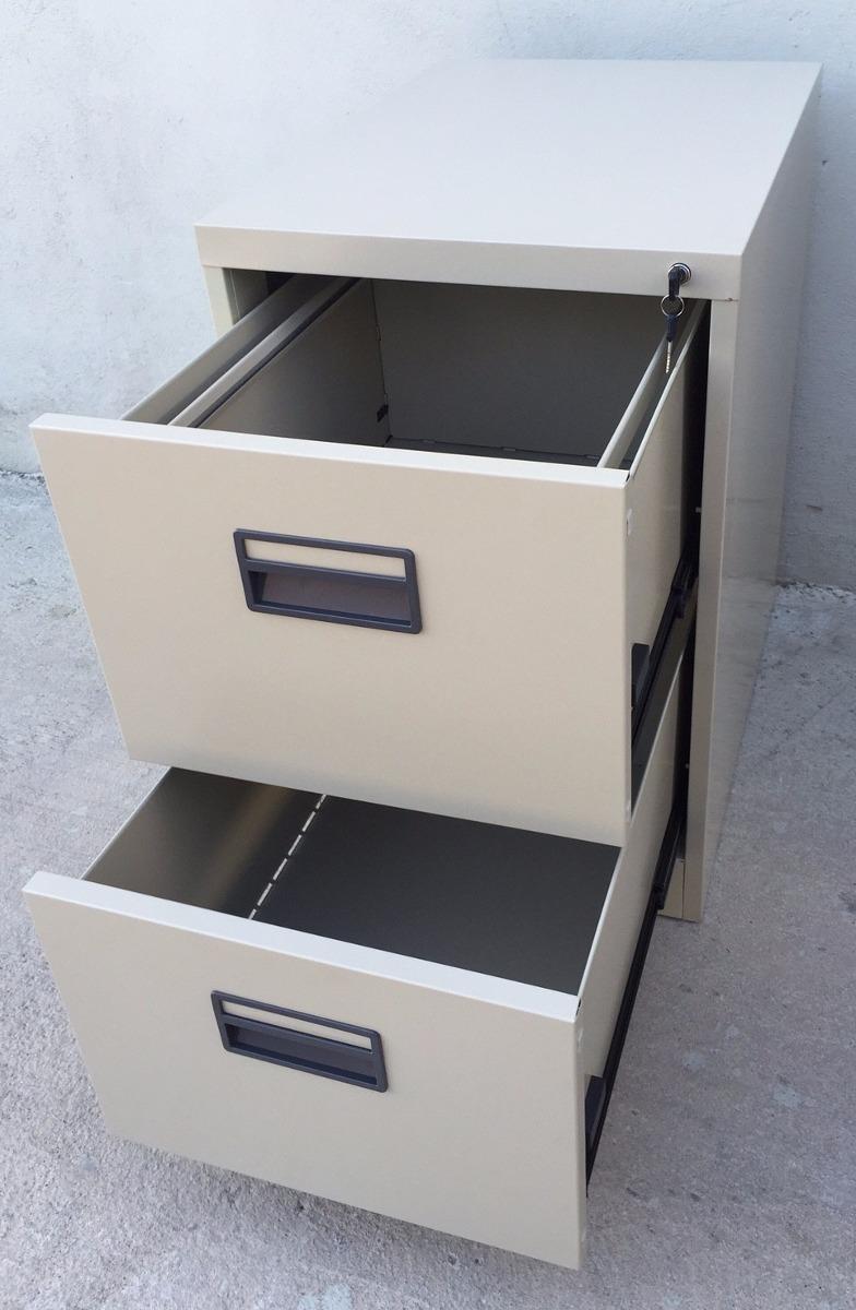 archivador o fichero met lico para oficina 2 cajones