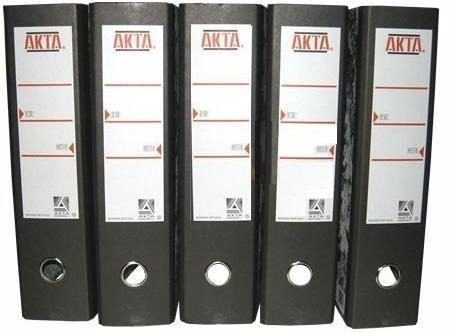 archivador lomo ancho tamaño oficio akta
