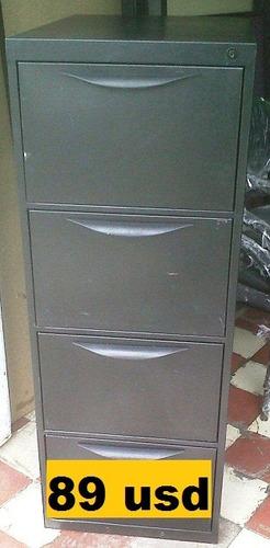 archivador mueble metàlico de oficina usado cuatro cajones