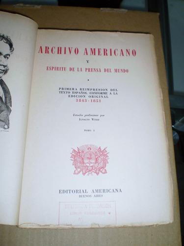 archivo americano edicion facsimilar tomos 1 y 2 completo