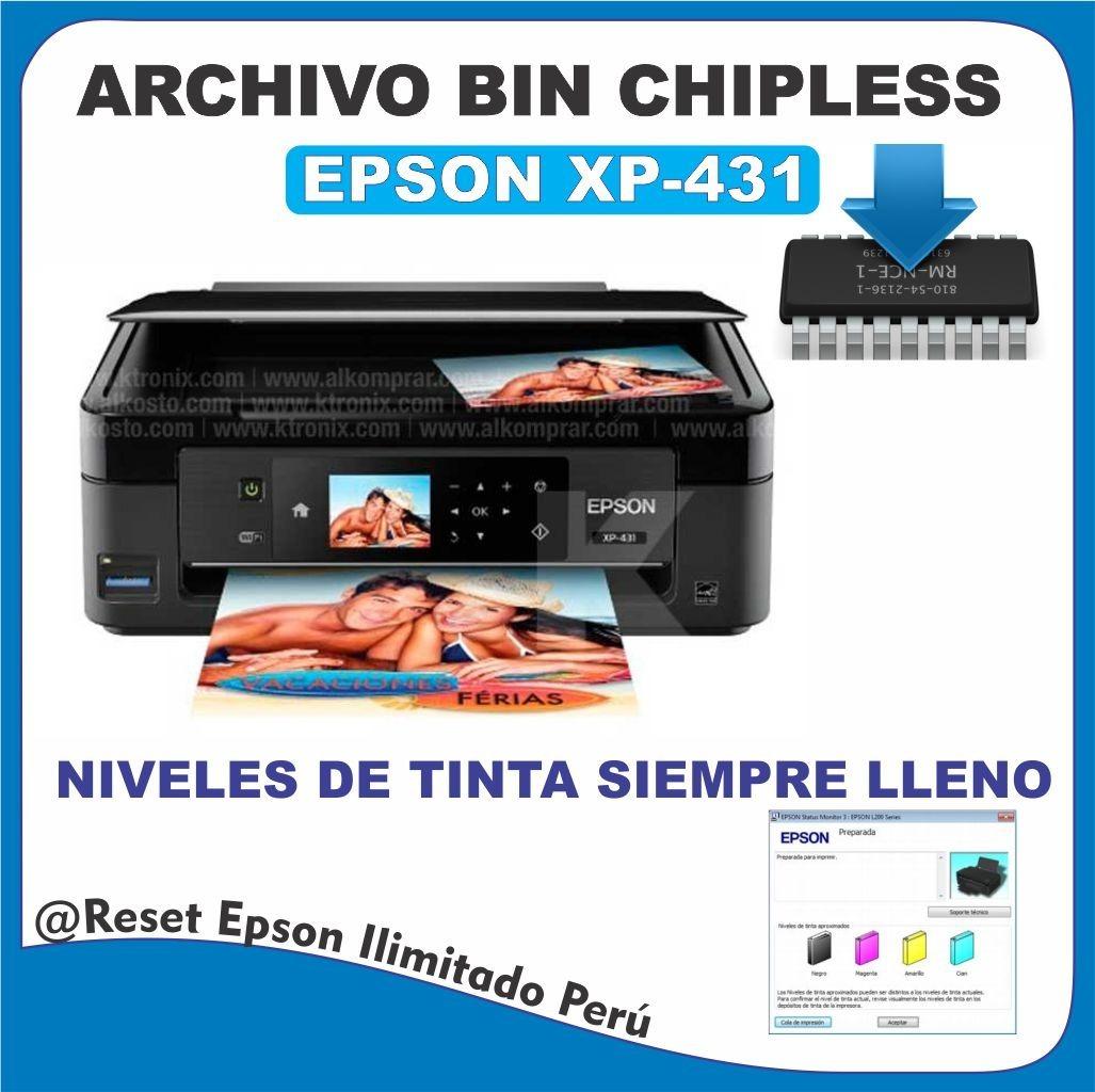 Archivos Bin Chipless Epson Xp-431