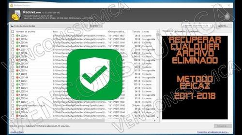 archivos borrados - recuva 1.53 2019 licencia 100%